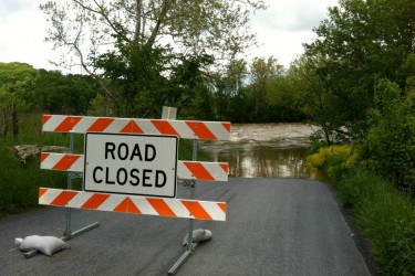 To much rain can close roads along your course.